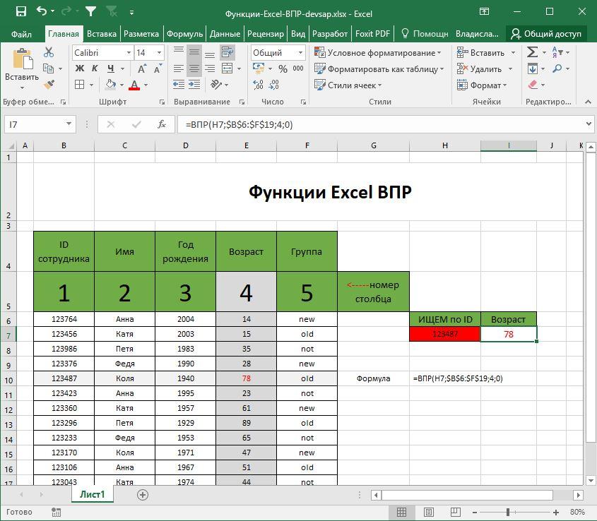 Функции-Excel-ВПР-DEVSAP