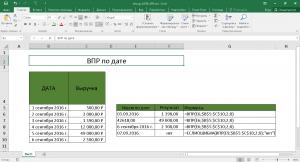 Поиск по определенной дате сумы в Excel